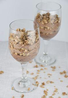 Chocolate Almond Butter Yogurt Granola Parfaits   Wishes and Dishes