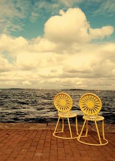 cute chairs... and photo