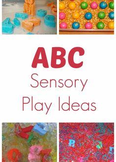 ABC Sensory Play Ideas.