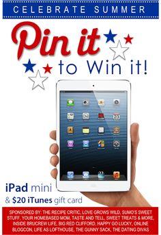 Pin It To Win It}I-Pad Mini Giveaway!