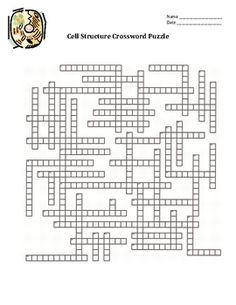 Cell Organelles Crossword Puzzle ($)
