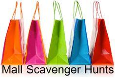 Mall Scavenger Hunt shopping bags