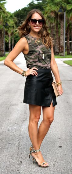 Fall 2014 trends: camo, python and leather