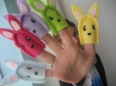 rabbit finger puppets