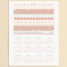 2014 Calendar www.lovevsdesign.com