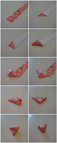 Puffy Heart Tutorial by Lottie #DIY #Heart #Puffy_Heart #Origami