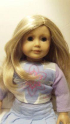 American Girl Look Alike Doll With Original Outfit Blonde Hair Blue Eyes