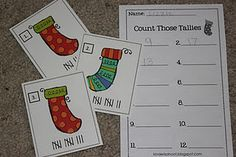 Super cute stocking tally sheets!
