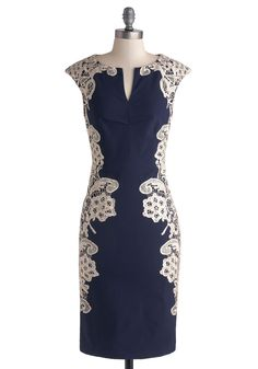 Lakeside Libations Dress in Navy, @ModCloth