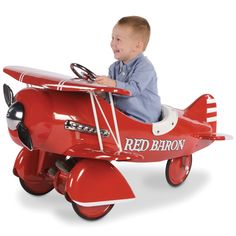 The Authentic 1941 Red Baron Pedal Biplane... you think this might be more fun than the traditional tricycle?