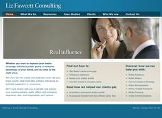 PR consultancy website - designed and built by Coventry web design company, Design One For Me