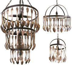Cutlery chandeliers