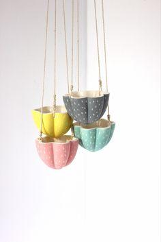 Tiny Ceramic Flower planter by Septembre Ceramics