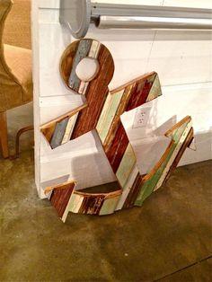 anchors away - wooden anchor decor Duh for the Home and Garden - Pensacola: http://nonsensesensibility.com/blog/2012/08/duh-for-garden-and-home-pensacola-florida/