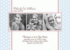 Graduation Photo Invitation - Open House - Announcement - Custom