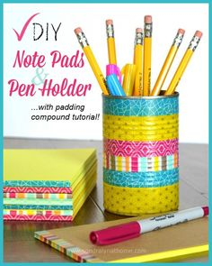 Note Pads and Pen Holder -- Sondra Lyn at Home