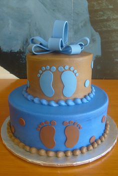 Baby Feet Shower Cake