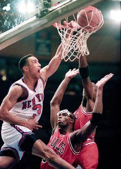 Dunk!!! Dunk, New York Knicks, Ny Knick, Nba, Jordan, Chicago Bull, Basketbal, Sport, John Stark
