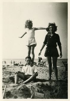 Day at the beach. 1950
