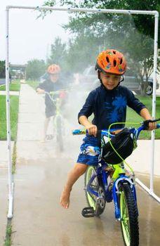 pvc pipe kid bike wash
