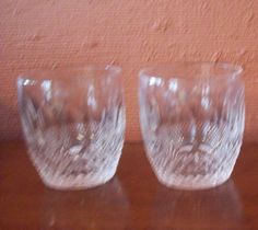 2 WATERFORD COLLEEN Old Fashion Glasses 3 1/4 inches tall