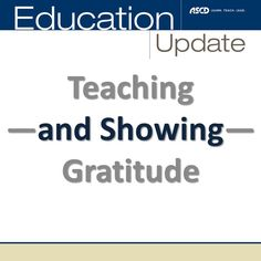 Teaching and showing gratitude in the classroom