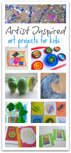 Art docent? These are rad projects that are all inspired by fine artists and a great way to bring art history alive.