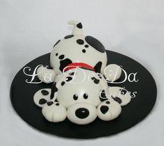 Dalmatian Dog Cake  * La-De-Da Cakes