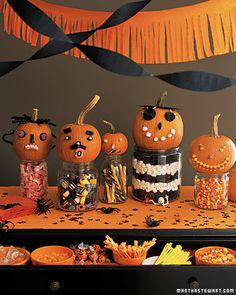 Halloween table decorations.