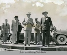 C. Norman Brunsdale and Dwight D. Eisenhower at Garrison Dam site
