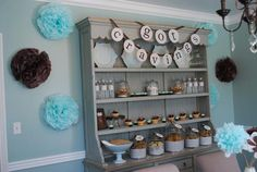 Cute baby shower idea.... milk & cookies theme