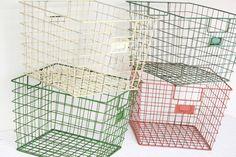 Weathered Wire Gym Baskets (in orange?)