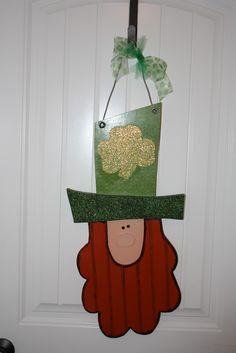 Leprechaun Head Door Hanger-Kerrie of Wood Creations