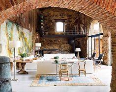 Exquisite Interior Design Within a 12th Century Oil Mill
