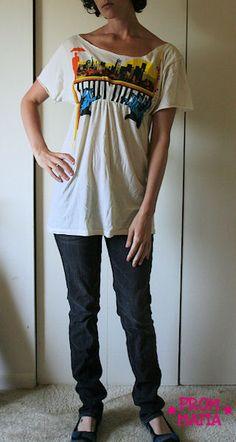 shirt recon, shirt tunic, boyfriend tunic, diy tunic, tshirt modif, diy boyfriend