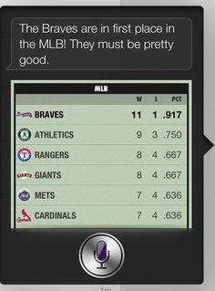 Siri still has it right. Braves #1.