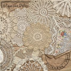 Antique and vintage lace and doilies..