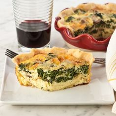 Gluten Free Spinach And Mushroom Quiche