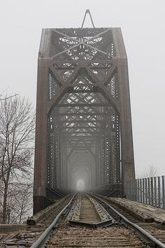 bridge fog , Pierre, SD by deborah_eich, via Flickr