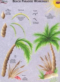 Beach Paradise RTG Worksheet for Binder~Donna Dewberry