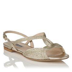 Sadie Metallic Flat Sandal