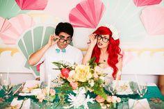 Hipster mermaid wedding #TheLittleMermaid #Ariel