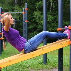 Workout at the park!  Parks & playgrounds offer fresh air alternatives to gym workouts.  #workouts #playground #fitness
