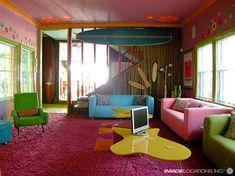 colorful retro beach decor