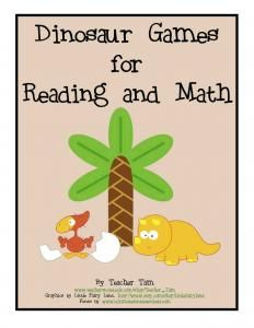 Enter my giveaway to win a set of dinosaur-themed reading and math games!  :)