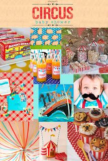Circus themed baby shower. would make great birthday theme too.
