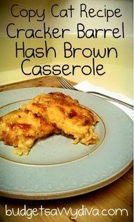 Copy Cat Recipe Cracker Barrel Hash Brown Casserole