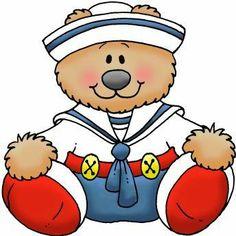 bear, card art, dibujo infantil, clipart, clip art, free printabl, berenplaatj, oso, nautic parti
