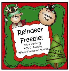"FREE LANGUAGE ARTS LESSON - ""Reindeer Freebie"" - Go to The Best of Teacher Entrepreneurs for this and hundreds of free lessons. PreKindergarten - 1st Grade   #FreeLesson   #LanguageArts   #Christmas   http://www.thebestofteacherentrepreneurs.net/2013/11/free-language-arts-lesson-reindeer.html"