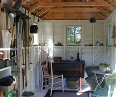 Functional interior - garden shed.